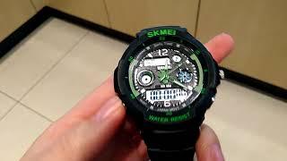 Короткий обзор часов Skmei S-Shock Green  от Бест - Тайм