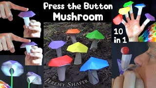 Press the Button Mushroom - 10 in 1 Origami Fidget Toy