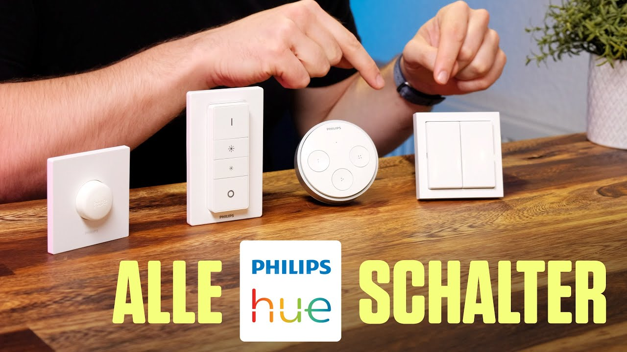 Videothumbnail Philips Hue Lichtschalter im Vergleich: Smart Button, Dimmer, Tap und Friends of Hue