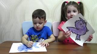 Kids paint animals