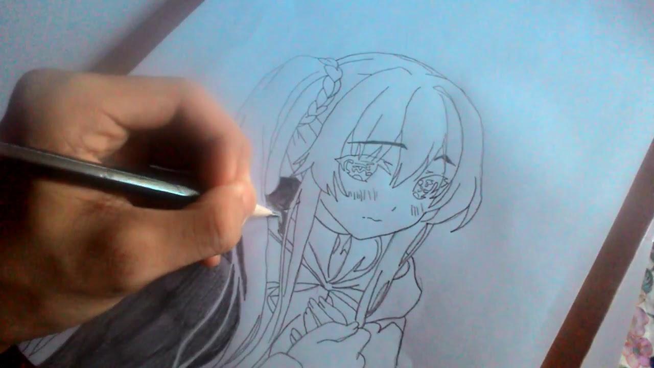 #TimeLapse Drawing Vlog MangaNime Area, chara from light novel seirei  gensouki #02