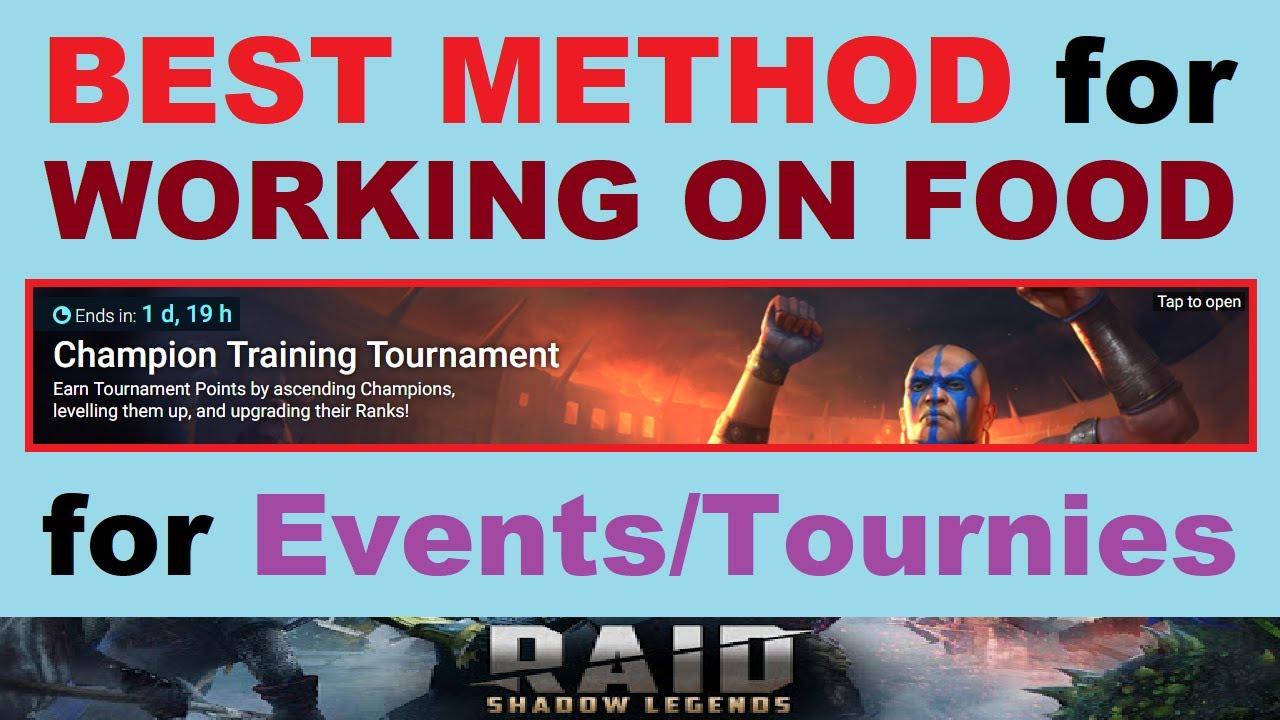 *BEST METHOD* for ~LEVELING FOOD~ for Events & Tournaments (Maximum Rewards) RAID: Shadow Legends