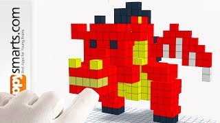 Making Blocky Dragon in A Box - 3D Pixel Art Paint By Numbers Game Tutorial