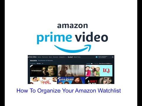 How To Organize Your Amazon Watchlist