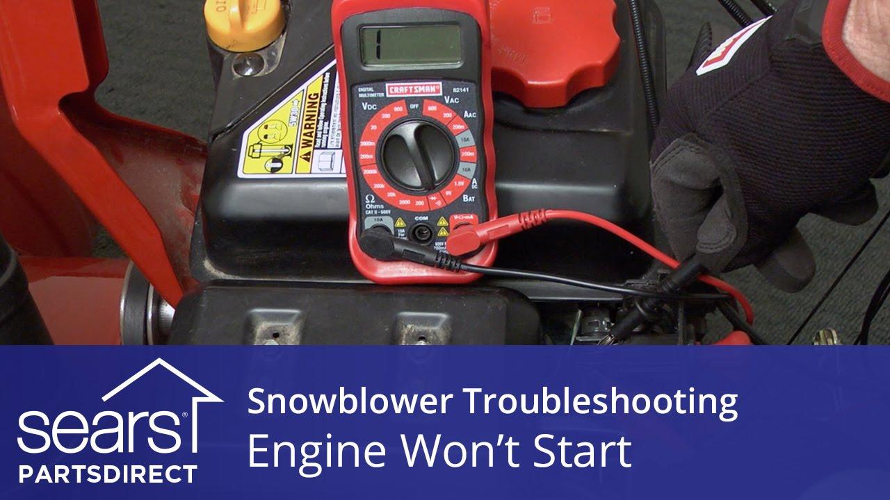 Engine Won T Start Snowblower Troubleshooting Youtube