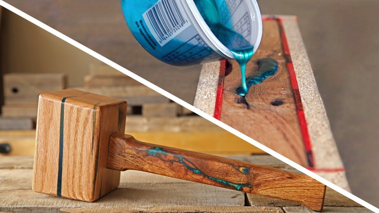 How To Make An Epoxy Inlaid Wooden Mallet Epoxy Resin Woodworking