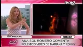 Ana Sol Romero comenta el polémico video de Mariana Marino y Ronny Dance