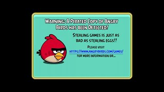 Angry Birds PC Version 4.0.0 Anti-Piracy Screen