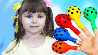 Изучите цвета с воздушными шарами Finger Family Song Baby Smile for Kids