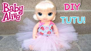 BABY ALIVE DIY Tutu For Baby Alive Doll!