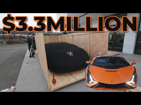 Taking Delivery of the $3.3Million Lamborghini SIAN!! 1st in North America.