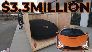 Taking Delivery of the $3.3Million Lamborghini SIAN!! 1st in North America.