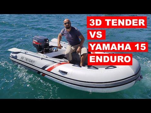 """У нас новый """"тузик"""". Обзор 3D Tender 280 с алюминиевым дном и мотор Yamaha 15 л.с. Enduro."""