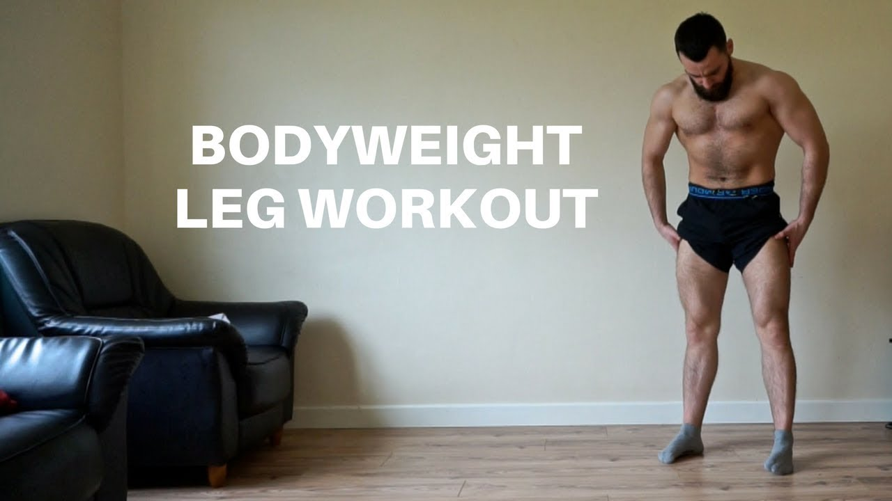 Home Leg Workout For Men Without Weights | Follow Along ...