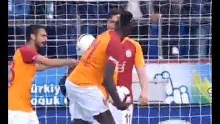 Diagne ve Sinan Gümüşün penaltı kullanma kavgası ve ardından gelen gol tribün çekim