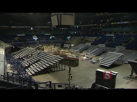 New Seats Going In At Bridgestone Arena