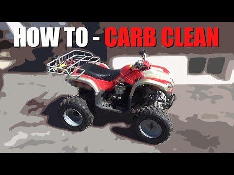 How to CLEAN a China ATV Carburetor!