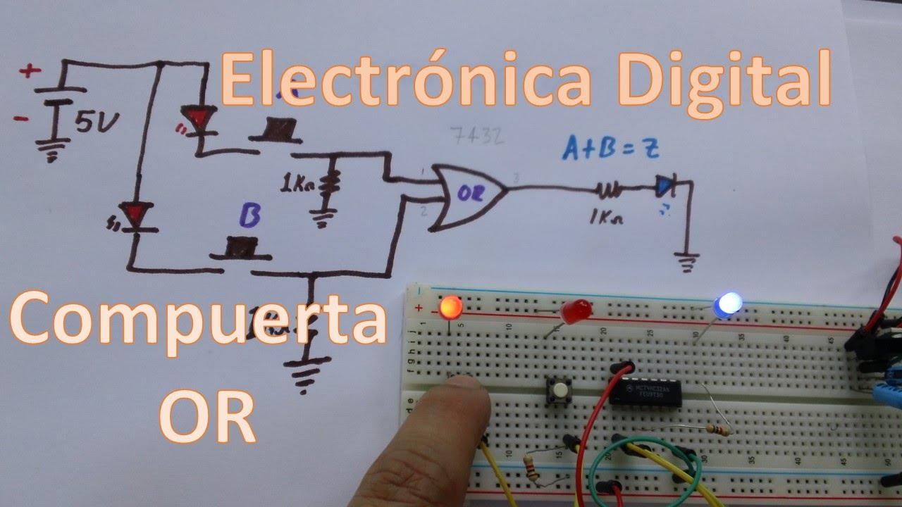 Circuito Not : Compuerta or circuito para comprobar la tabla de verdad