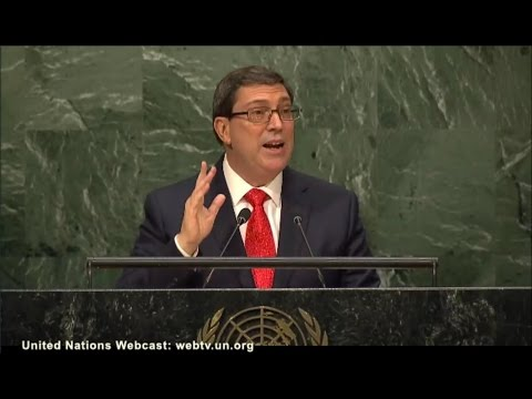 Bruno Rodríguez at the U.N. on the U.S. blockade of Cuba