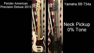 Fender American Precision Deluxe Bass & Yamaha BB 734a Comparison
