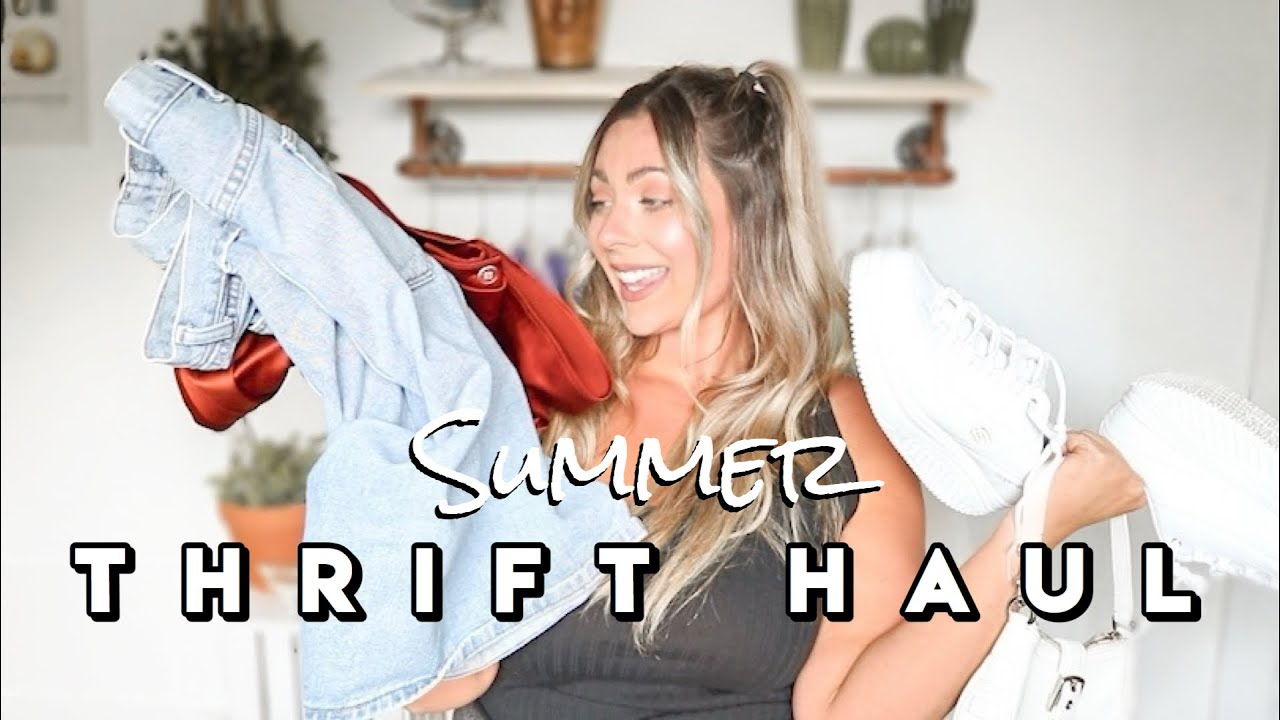 Summer Thrift Haul | Plus Size Thrifting + Try On