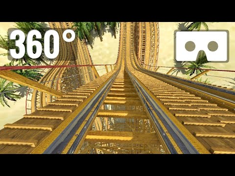 [360 video] Roller Coaster VR Box POV Disney Aladdin Desert Racer Fights PSVR Google Cardboard