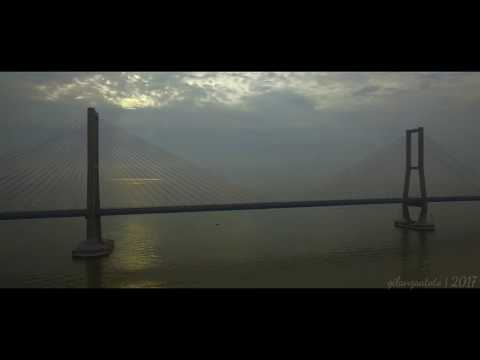 Sunrise at Suramadu Bridge