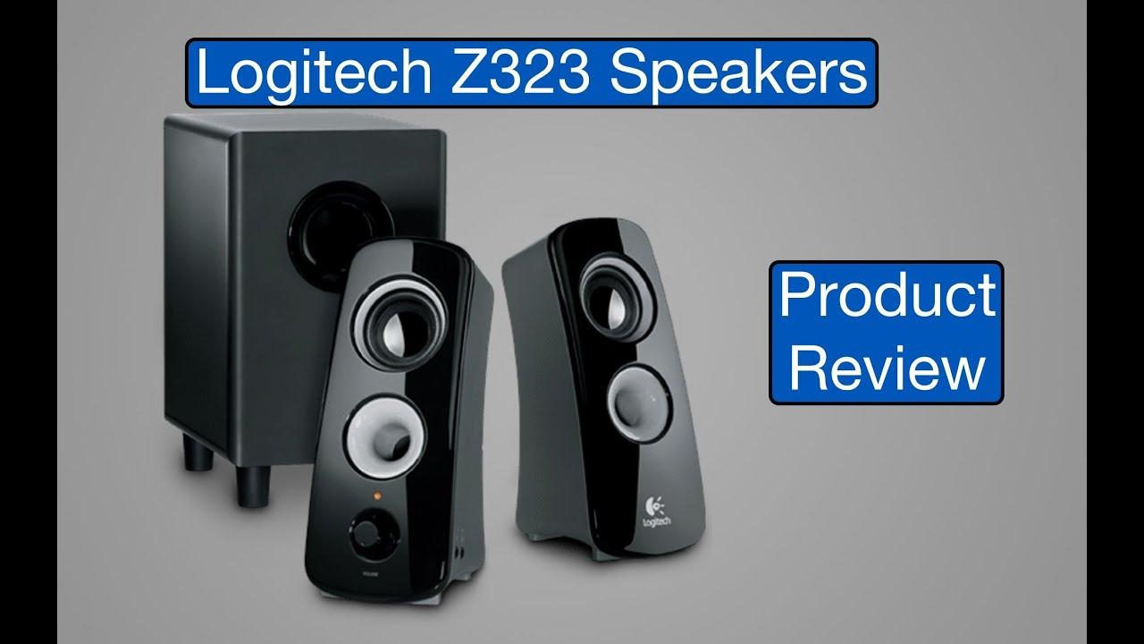 Review: Logitech Z323 Speaker System (w/ Sub-Woofer) - YouTube