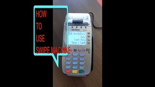 How to use pos machine 1st swipe debit/credit card 2nd enter last four digit 3rd amount 4th atm pin 5th collect receipt