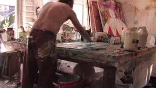 "Ron Ehrlichs Painting Presentation June 2014 ""Drunken Horses/ Self Portraits"""
