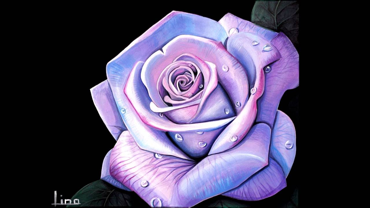 Step by step acrylic rose tutorial youtube for Step by step painting tutorial