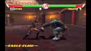 Mortal Kombat Deadly Alliance - Nintendo Gamecube - Kitana vs. Moloch