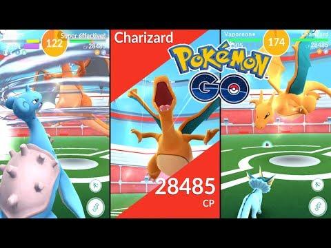Pokémon GO | Charizard Raid Boss 28,000 CP (Level 4) + Fast TM Reward! |  Gym Raids Ep  1