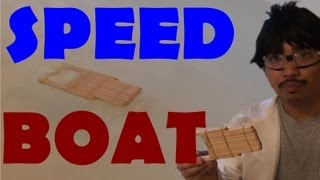 #2 Popsicle sticks Speed Boat