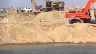 قناة السويس الجديدة: أول نقطة تلاقى بين الحفر والتكريك فى منطقة الدفرسوار