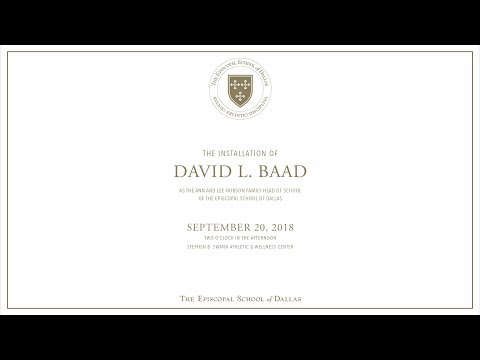 The Episcopal School of Dallas Head Of School Installation