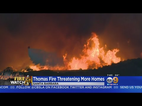 Winds Ease In Santa Barbara As Firefighters Enter Day 13 Of Thomas Fire