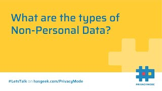 Types of Non-Personal Data