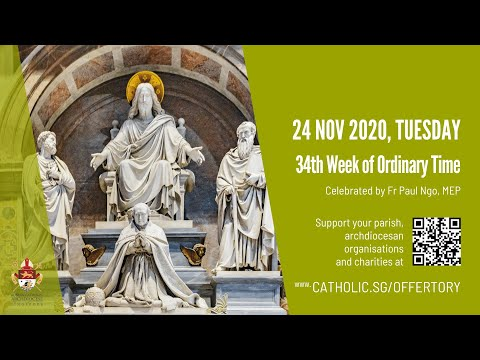 Catholic Weekday Mass Today Online - Tuesday, 34th Week of Ordinary Time 2020