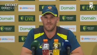 Finch talks Perth pitch, Harris after day one