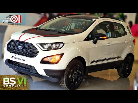 2020 Ford Ecosport Bs6 Thunder Sunroof On Road Price List Mileage Features Specs Youtube