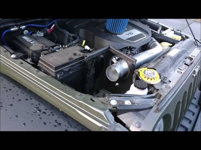 3c9bd462013 COLD AIR INTAKE FIX FOR MOPAR JEEP WRANGLER 2015 CAI - YouTube