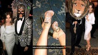 Violetta Komyshan on VOGUE Magazine's Snapchat - Save Venice Masquerade Ball April 7, 2017