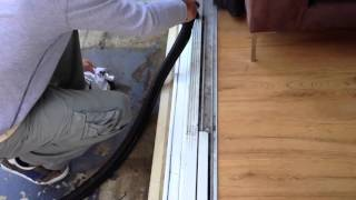 Cleaning Door Tracks Using A Steam Cleaner