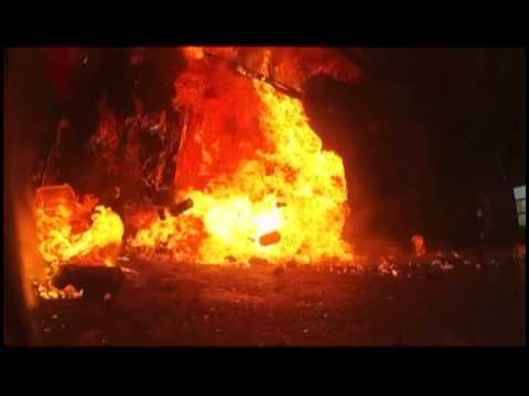 Aerosol Cans 'Become Missiles' During Fire - YouTube