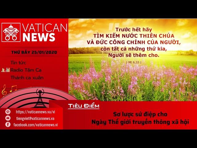 Vatican News Tiếng Việt 25.01.2020 (Mồng Một Tết)