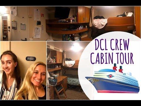 Disney Cruise Line Crew Cabin Tour!!!