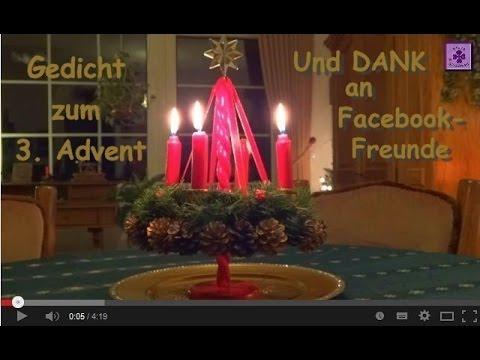 fg26 w nsche zum 3 advent dank an facebook freunde. Black Bedroom Furniture Sets. Home Design Ideas