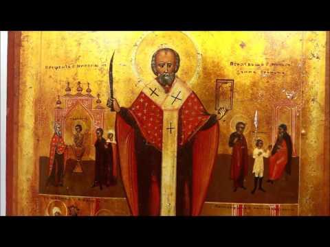 Купить редкую икону 19 века? Икона старинная Николай Чудотворец с житием. DR0321