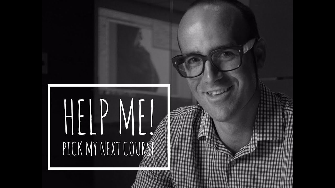 Help me please - Pick the course you want to see next. Infographics, Photoshop or Membership site